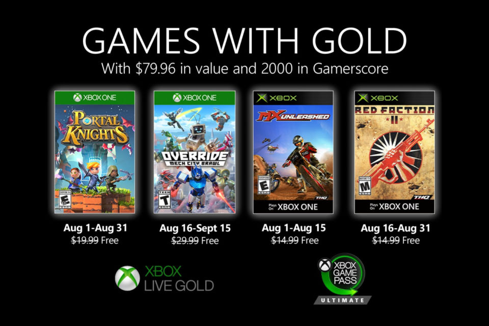 Games with Gold de agosto de 2020s