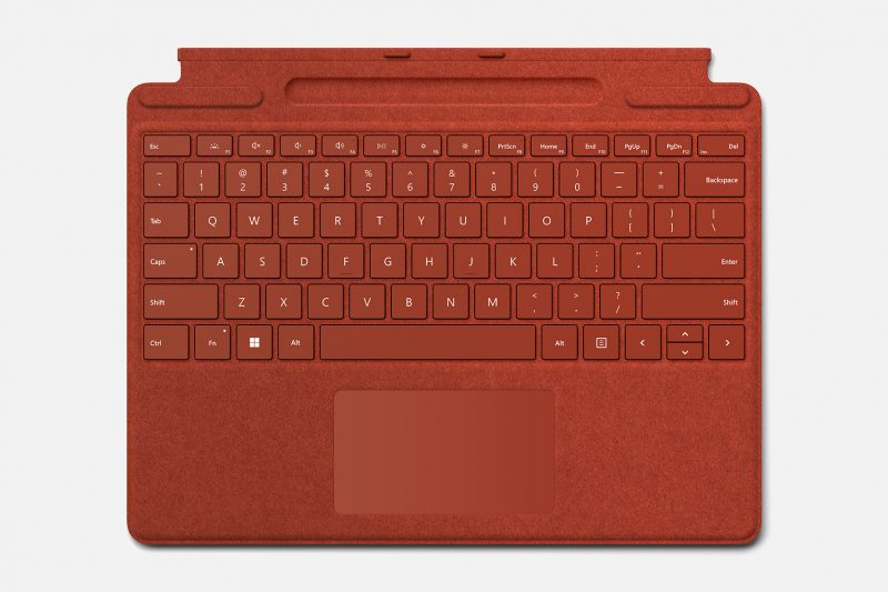 Surface Pro Type Cover in Poppy red
