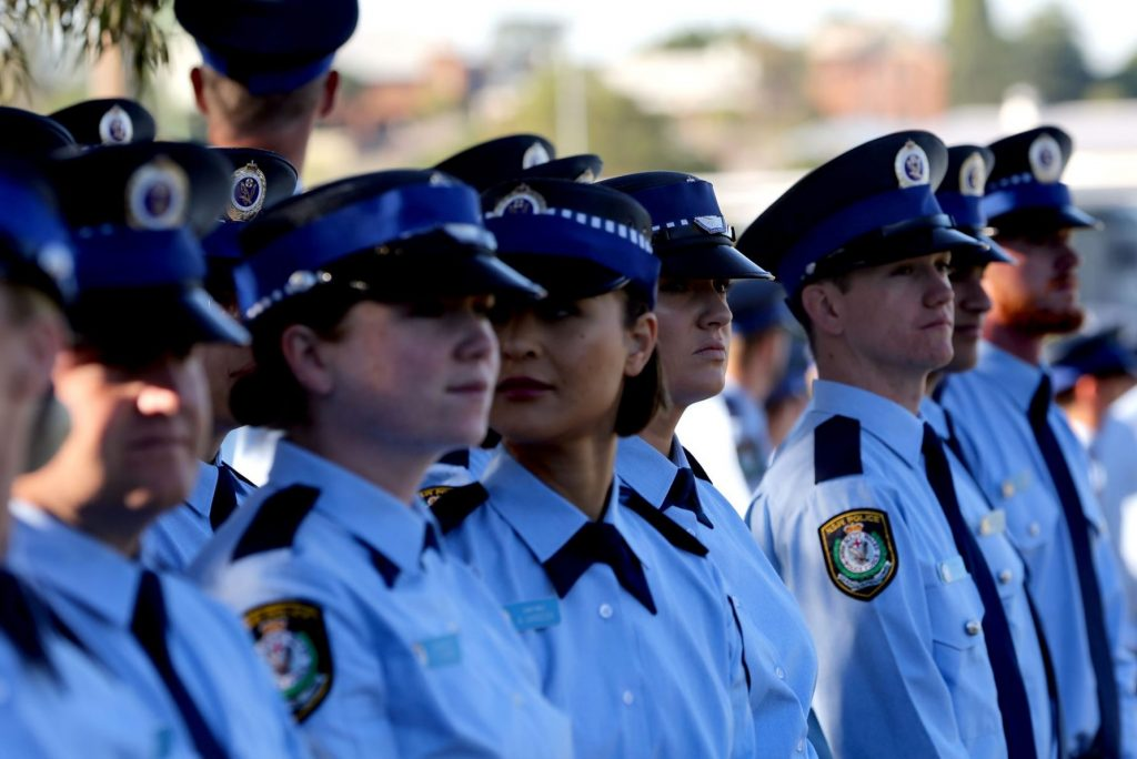 Line of NSW Police Officers