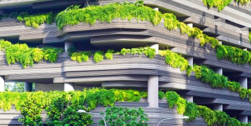 Greenery embedded with architecture