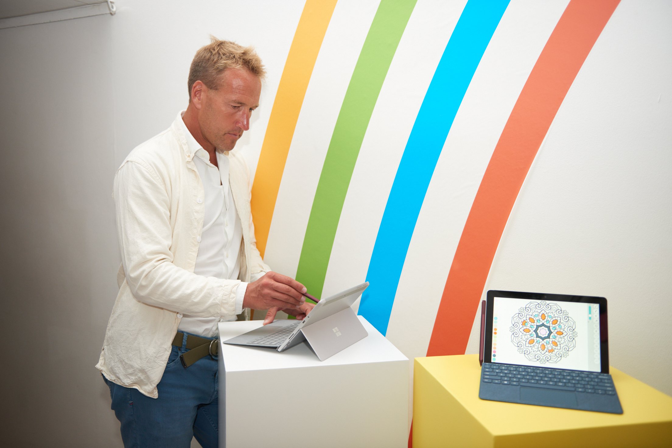 Ben Fogle at the Microsoft Surface Go launch event in London