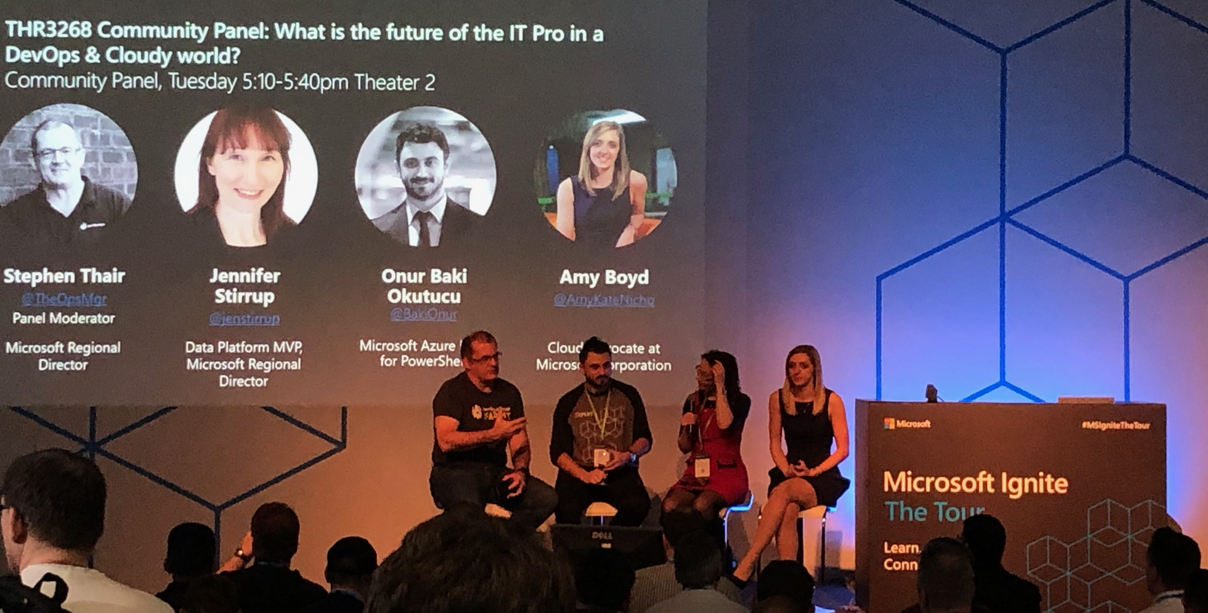 Amy Boyd, a Cloud Developer Advocate at Microsoft, takes part in a panel at Ignite