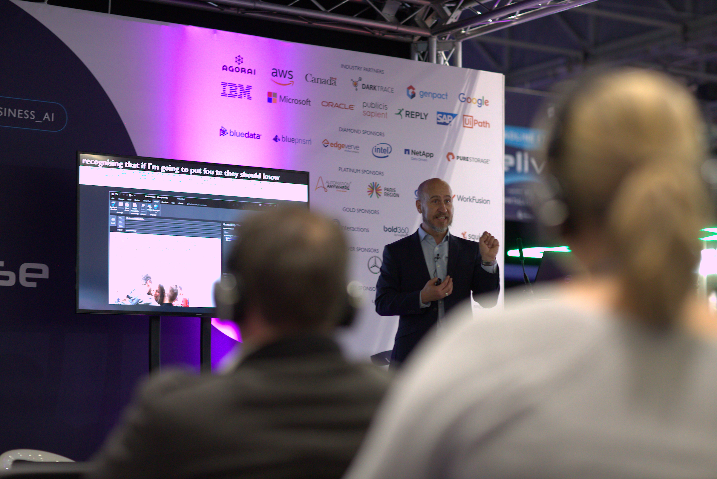 Hector Minto talks about accessibility in the ExCeL during London Tech Week