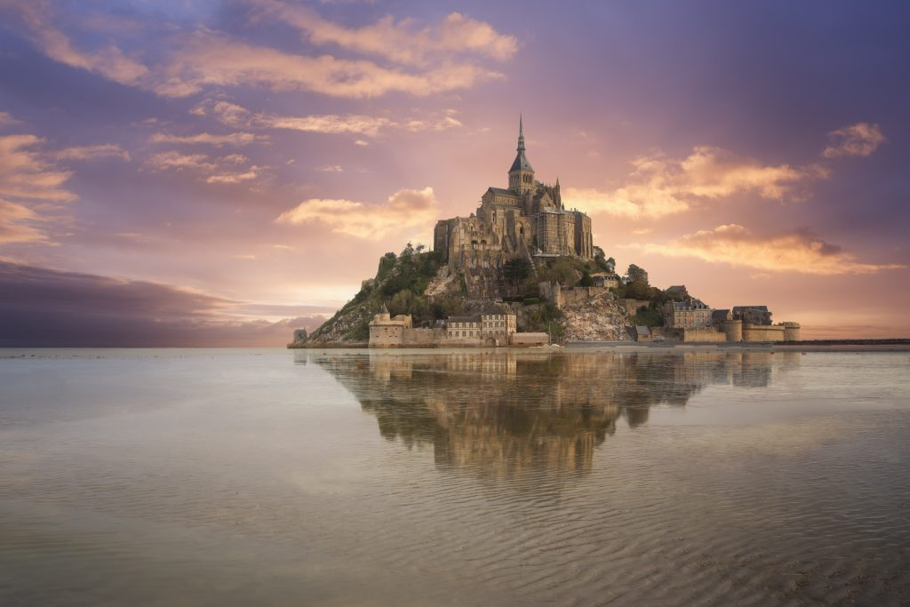 The island of Mont Saint Michel