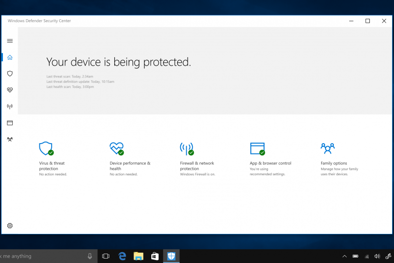 To better protect against ransomware attacks which hold your files hostage until you pay to get them back, Windows Defender now has specific safeguards against malicious apps and threats. Note: the image is the consumer experience which does not include Windows Defender Exploit Guard.