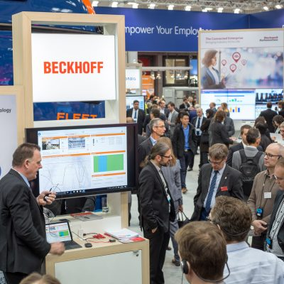 Hannover Messe 2017: Microsoft Stand (Beckhoff)